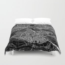 Rotterdam Black Map Duvet Cover