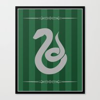 slytherin Canvas Prints featuring Slytherin by Winter Graphics