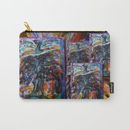 GODDESS AND PEACOCK Carry-All Pouch