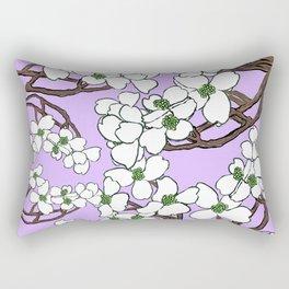 Dogwood pink Rectangular Pillow