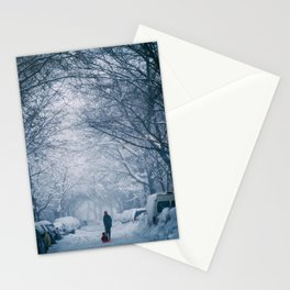 Blizzard in the City Stationery Cards