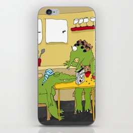 Crocodile Breakfast Color iPhone Skin