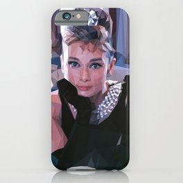'Audrey Hepburn' Low Poly Triangle Artwork Art Print iPhone Case