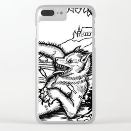 Werewolf Hunting medieval style Clear iPhone Case