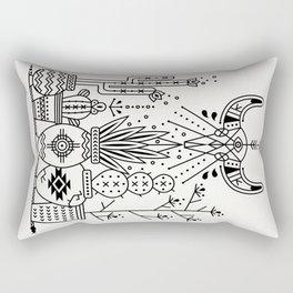 Santa Fe Garden – Black Ink Rectangular Pillow