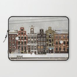 Amsterdam in the snow Laptop Sleeve