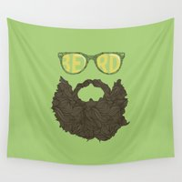 beard Wall Tapestries featuring Beard by Pedro Barbosa
