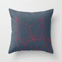 polygon Throw Pillows featuring Polygon by Rubraga
