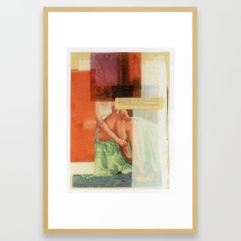 Window Woman Framed Art Print