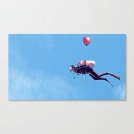 Scuba Sky Canvas Print