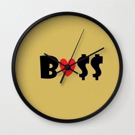 Boss (gold) Wall Clock