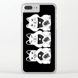 Three Smart Cats Clear iPhone Case