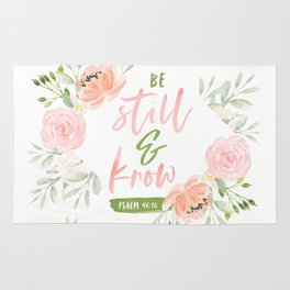 Be Still and Know Bible Verse Rug
