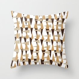 brown spearheads Throw Pillow