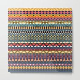 Vintage tribal aztec pattern Metal Print