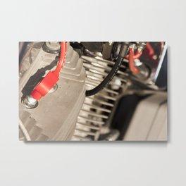 Motorbike engine Metal Print