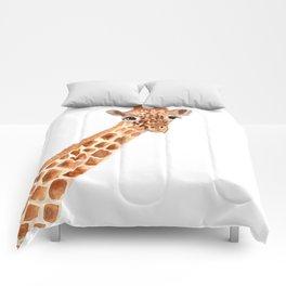Watercolor Giraffe Comforters