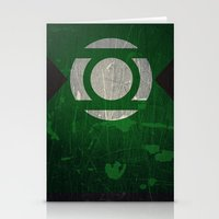 green lantern Stationery Cards featuring Green Lantern by Fries Frame