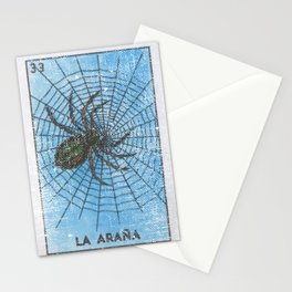 La Arana Mexican Loteria Bino Card Stationery Cards
