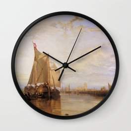 William Turner - The Dort Packet-Boat from Rotterdam Becalmed Wall Clock