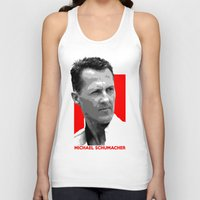 formula 1 Tank Tops featuring Formula One - Michael Schumacher by Vehicle