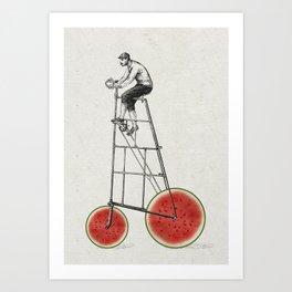 melon bike Art Print