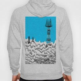 San Francisco - Sutro Tower (blue sky) Hoody