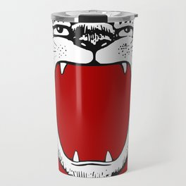 Tiger Head Red Travel Mug