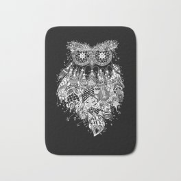 Dream Catcher on Black Bath Mat