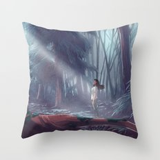 How to be a Werewolf: Malaya in the Forest Throw Pillow