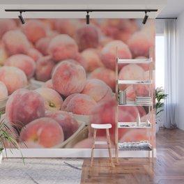 Peaches at the Farmer's Market Wall Mural