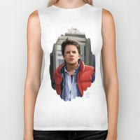 mcfly Biker Tanks featuring Marty McFly by Kaysiell