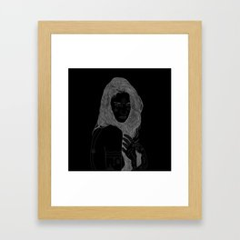 ilvy primitive portrait Framed Art Print