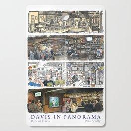 Davis Panorama Poster: Bars of Davis Cutting Board