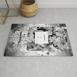 Perfume Black and White Rug