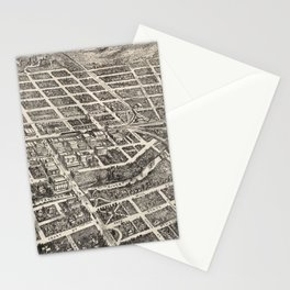 Vintage Pictorial Map of Reno Nevada (1907) Stationery Cards