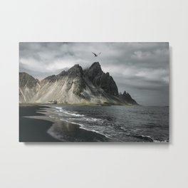 Flying Into the storm Metal Print