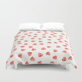Sparkly hearts Duvet Cover