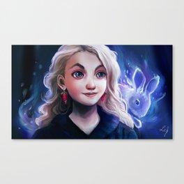 Luna Lovegood and Rabbit Patronus Canvas Print