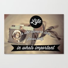 Photography life Canvas Print