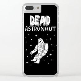 Dead Astronaut Clear iPhone Case