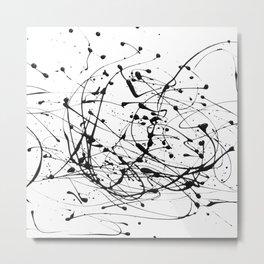 Black Paint Splashes Metal Print
