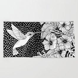Hummingbird garden Beach Towel
