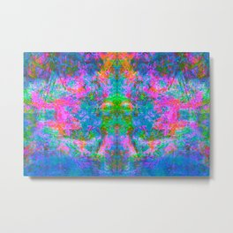 Kamana II (Ultraviolet) (abstract, psychedelic, psyart) Metal Print