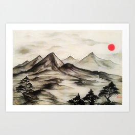 Mountains No1 Art Print