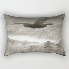 Stealth And Surprise Of The Night Owl Rectangular Pillow