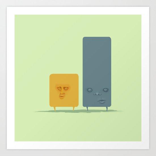 Two Guys Art Print