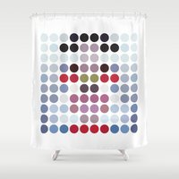 bjork Shower Curtains featuring Homogenic by freefallflow