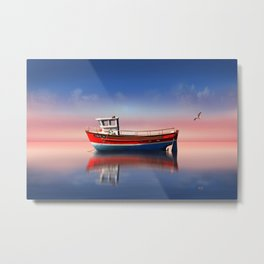Fishing boat in the evening light Metal Print