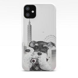 Schnauzer with Camera iPhone Case